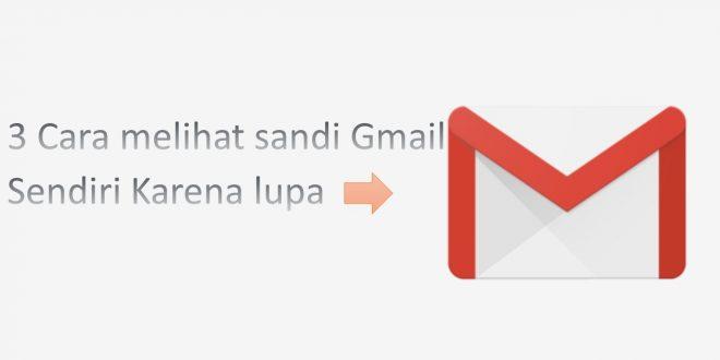 3 Cara Melihat Password Gmail Sendiri Karena Lupa